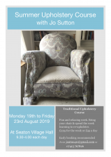 Summer Upholstery Course August 2019