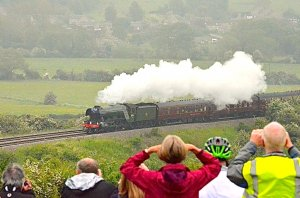 Flying Scotsman to cross the Welland Viaduct at 10.00 this morning